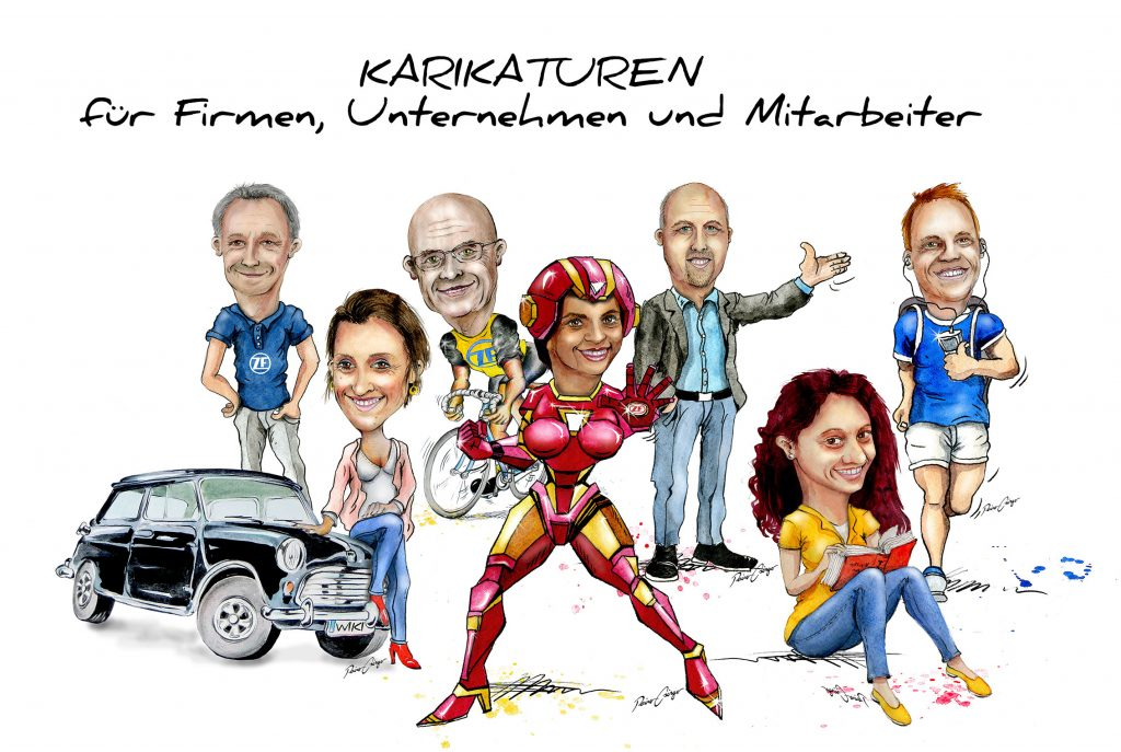 Lustige Karikaturen für Firmen, Firmenkarikaturen, Teamkarikatur, Karikatur Firma, Unternehmer Karikatur, Karikaturen für Firmen und Marken, Unternehmenskarikatur, Büro Karikatur, Bürokarikaturen, Mitarbeiterkarikaturen, Karikaturen für Mitarbeiter und Angestellte, Karikatur Unternehmer, Gruppenkarikatur, Karikaturen von Gruppen, Karikaturen und Cartoons nach Wunschthemen, hochwertige Karikaturen und Cartoons vom Profi-Karikaturisten Rainer M. Osinger.