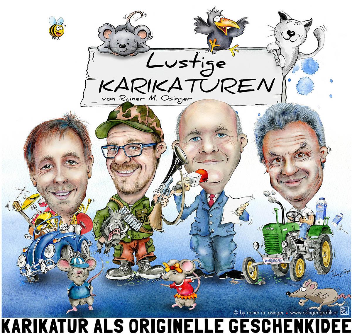 Karikaturen Karikatur Kärnten Osinger Karikaturist