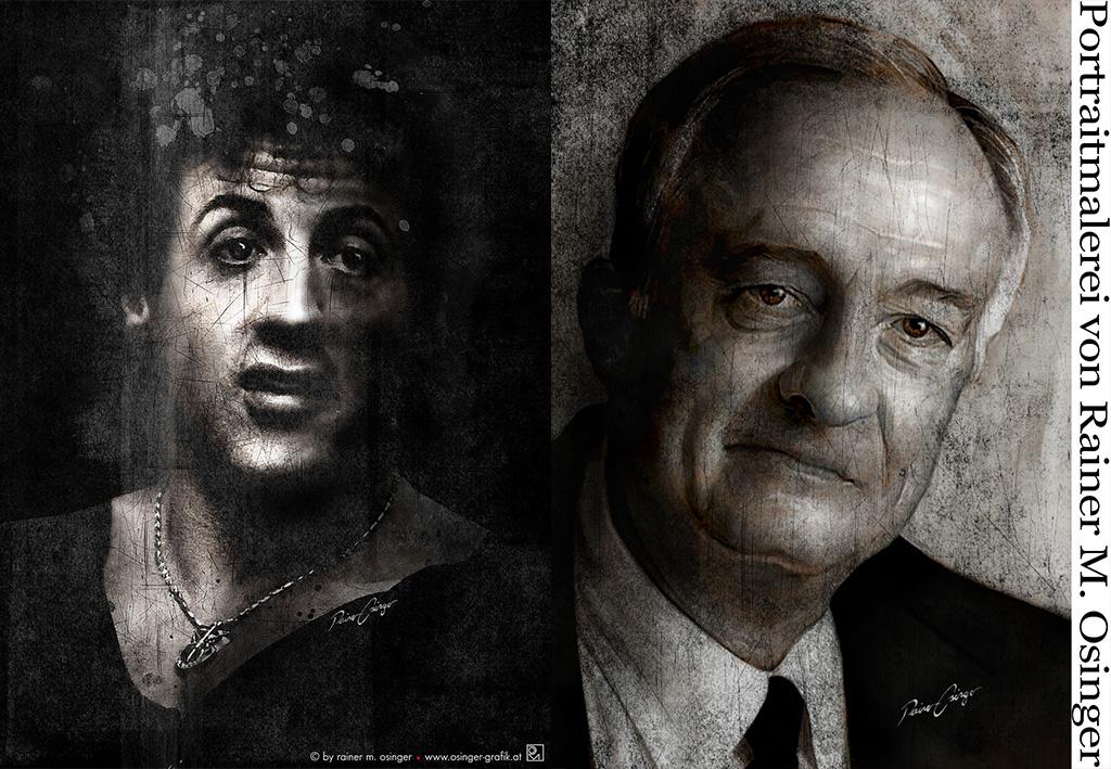 Sylvester Stallone, Rocky, Sly, Rocky Balboa, Rainer Osinger Portraet Porträt Portrait Portraitgemaelde Stallone Silvester